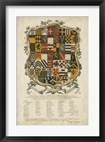 Framed Edmondson Heraldry III