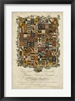 Framed Edmondson Heraldry IV