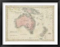 Framed Map of Australia