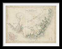 Framed Map of New South Wales