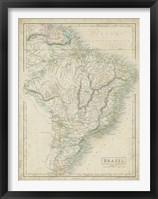 Framed Map of Brazil
