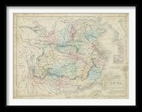 Framed Map of China