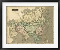 Framed Thomson's Map of Asia