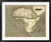 Framed Thomson's Map of Africa