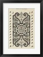 Framed Garden Parterre VII