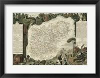 Framed Atlas Nationale Illustre VII