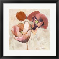 Framed Painted Poppies