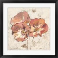 Framed Painted Roses