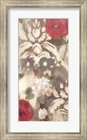 Framed Ikat Rose I