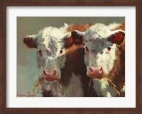 Framed Cow Belles