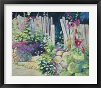 Framed Hollyhock Garden