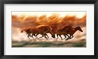 Framed Blazing Herd II