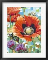 Framed Vivid Poppies II