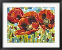 Framed Vivid Poppies III