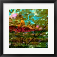 Framed Abstract Leaf Study III