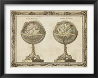 Framed Terrestrial & Celestial Globes