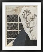 Non-Embellished Fragmented Collage II Framed Print