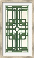 Framed Non-Embellished Emerald Deco Panel I