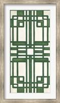 Framed Non-Embellished Emerald Deco Panel II