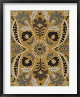 Golden Suzani I Framed Print