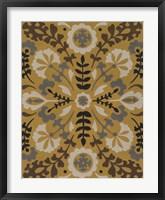 Golden Suzani II Framed Print