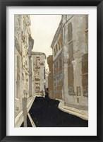 Non-Embellished Streets of Paris I Framed Print