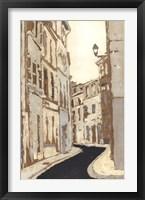 Non-Embellished Streets of Paris II Framed Print