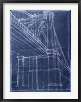 Bridge Blueprint II Framed Print