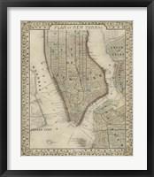 Framed Plan of New York