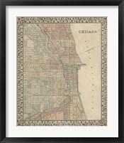 Framed Plan of Chicago