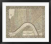 Framed Plan of New Orleans