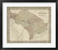 Framed Plan of Washington, D.C.