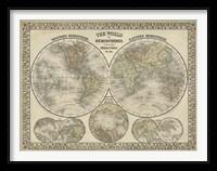 Framed World in Hemispheres