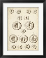 Antique Roman Coins III Framed Print