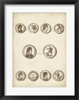 Antique Roman Coins V Framed Print