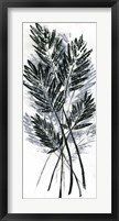 Palm Leaf Fresco I Framed Print