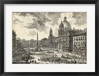 Framed Veduta di Piazza Navona