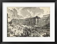 Framed Veduta di Piazza di Spagna