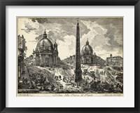 Framed Veduta della Piazza del Popolo