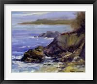 Framed Surf on the Rocks