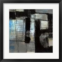 Black on Blue I Framed Print