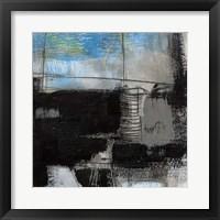 Black on Blue III Framed Print