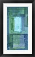 Framed Blue Patch I
