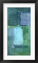 Framed Blue Patch II