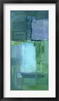 Blue Patch II Framed Print