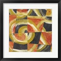 Fire & Slate I Framed Print