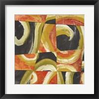 Fire & Slate II Framed Print