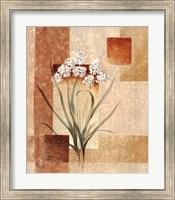 Framed Delicate flowers I