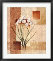 Framed Delicate flowers I