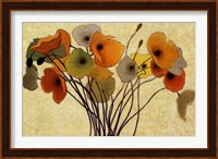Framed Pumpkin Poppies I